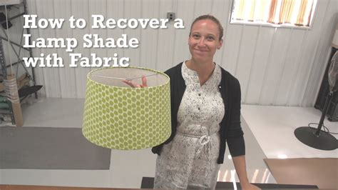 how to recover a l shade with fabric