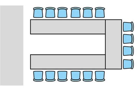 room layout for presentation room layout style u shape