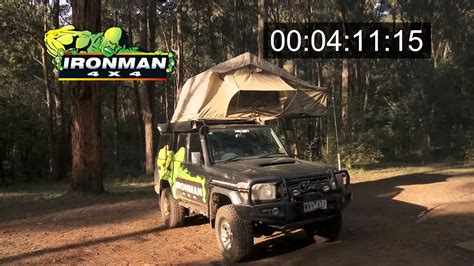how to setup ironman 4x4 rooftop tent awning