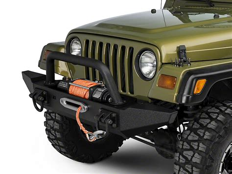 jeep wrangler tj bumpers rugged ridge wrangler xhd front bumper kit w overrider