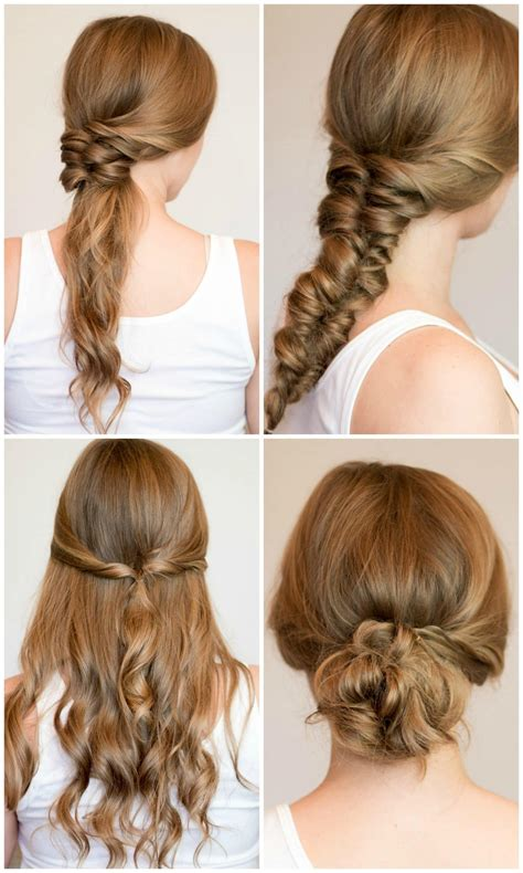 easy heatless hairstyles for long hair ashley brooke