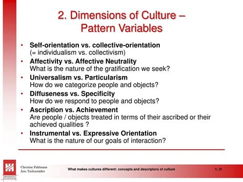 meaning of pattern variables ppt what makes cultures different concepts and