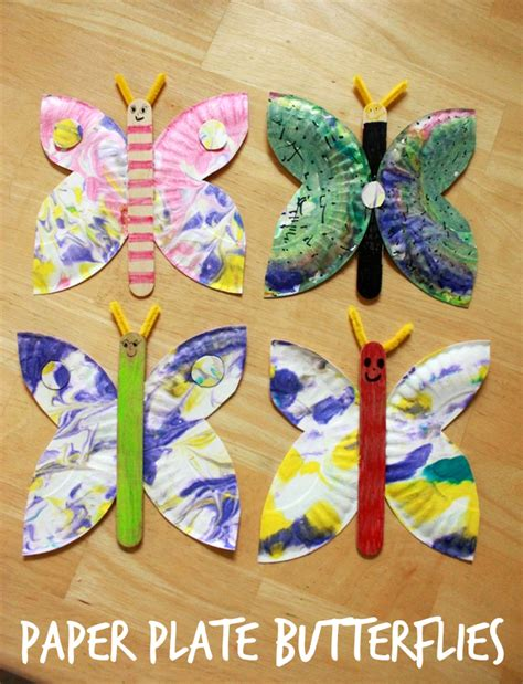 paper and craft for a paper plate butterfly craft an easy and creative idea