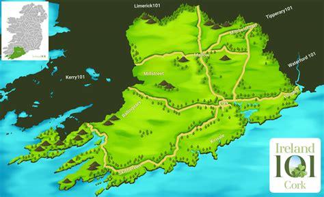 county cork ireland map counties of ireland cork ireland