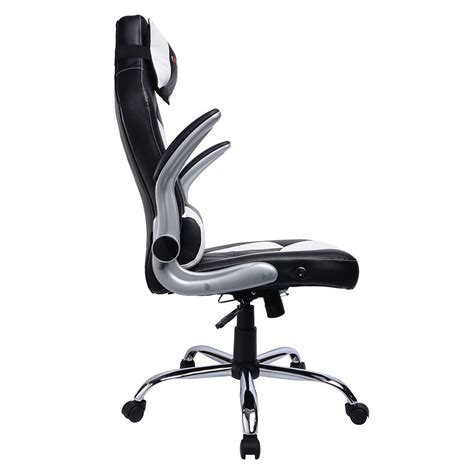 reclining gaming desk chair gtforce blaze reclining leather sports racing office desk
