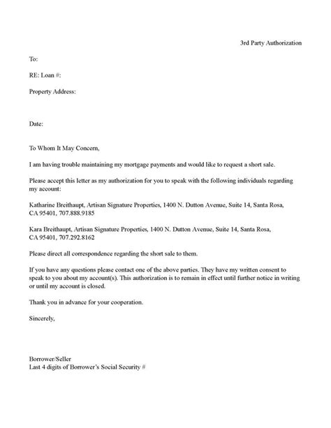 authorization letter sle for bank loan authorization letter for sale exle of a