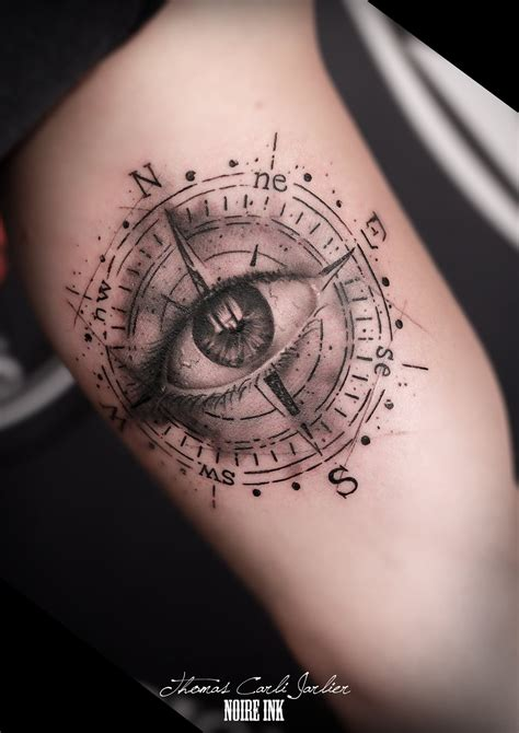 counts tattoo eye in compass design for sleeve jpg 1600 215 2263