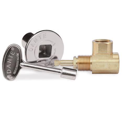 dante globe gas valve key and floor plate kit angled