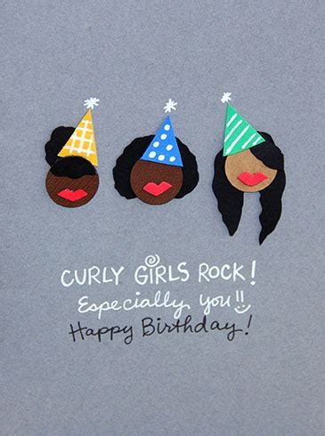 Curly Girls Rock Birthday Card. Free Happy Birthday eCards