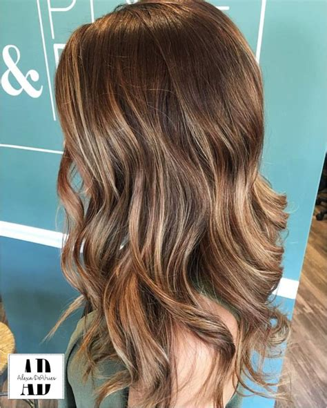 pictures of highlights only front and hair ends alexachristinedevries beautful brown balayage on medium