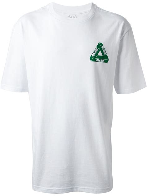 T Shirt Triangle palace triangle logo tshirt in white for lyst