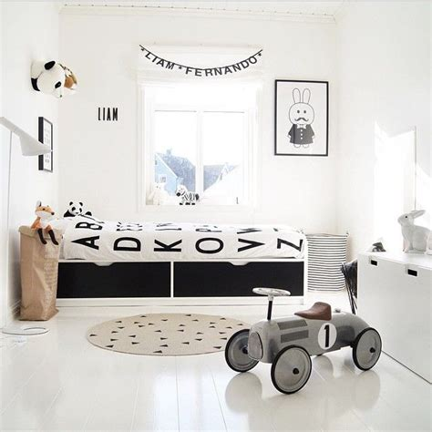 10 black and white kids rooms tiny little 7 black and white kids spaces petit small