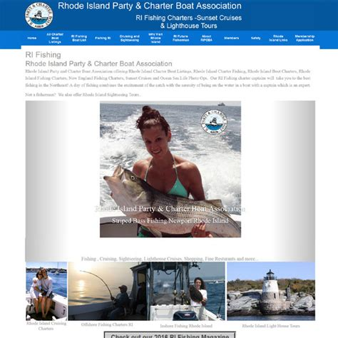 party boat fishing rhode island web page design custom website design