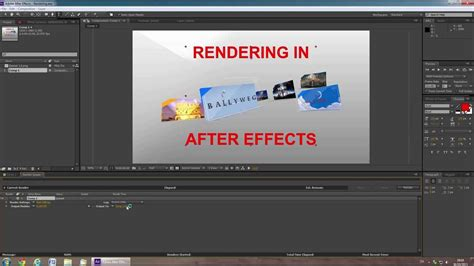 tutorial video wall after effects tutorial rendering in after effects youtube