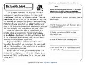 the scientific method 2nd grade reading comprehension