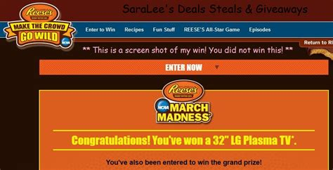 Instant Win Crazy - reese s ncaa march madness make the crowd go wild instant win game 4 8 daily saralee