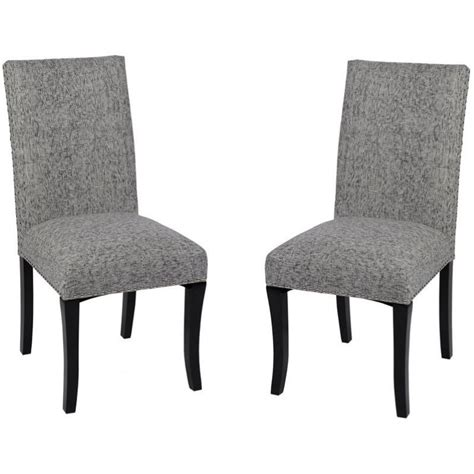 Kitchen Accent Furniture Armen Living Accent Fabric Wood Dining Chair In Ash Set Of 2 Lcdesias