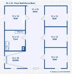 Large Horse Barn Floor Plans by Barn Plans 4 Stall Horse Barn Plans Design Floor Plan