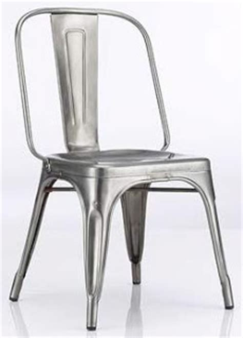 Galvanized Bistro Chair Musings Steel Is