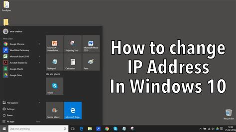 Windows Ip Address Lookup How To Manually Set Ip Address In Windows 10