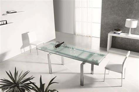 Modern Extendable Frosted Glass Chrome Executive Desk Or Modern Glass Desks