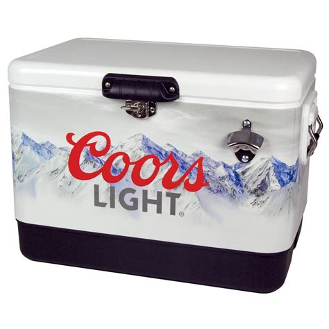 coors light chair with built in cooler koolatron 54 qt stainless steel coors light ice chest