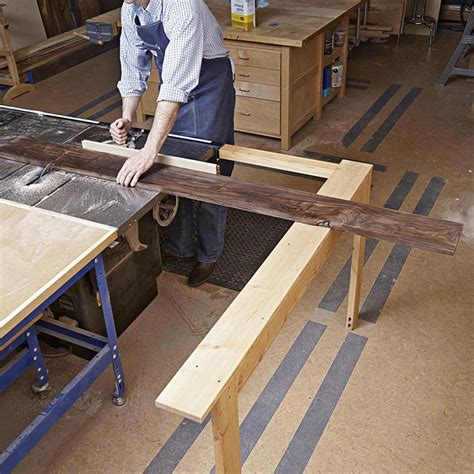 woodworking jigs and fixtures extending tablesaw stock support woodworking plan from