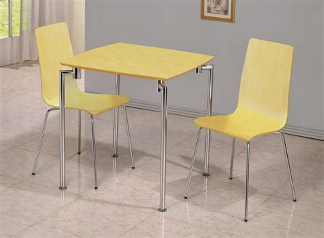 small beech wooden dining table and 2 chairs homegenies