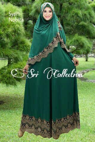 Gamis Pesta Hijau Botol nobita vol2 hijau botol baju muslim gamis modern