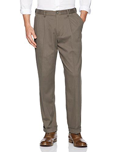 Comfortable Khaki by Dockers S Comfort Khaki Upgrade Relaxed Fit Pleat Pant Pebble 40x32