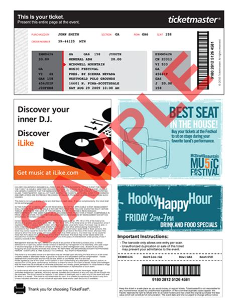 ticketmaster ca help print at home