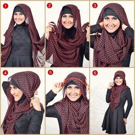 tutorial hijab simple n modern 24 hijab tutorial natasha farani youtube new style for