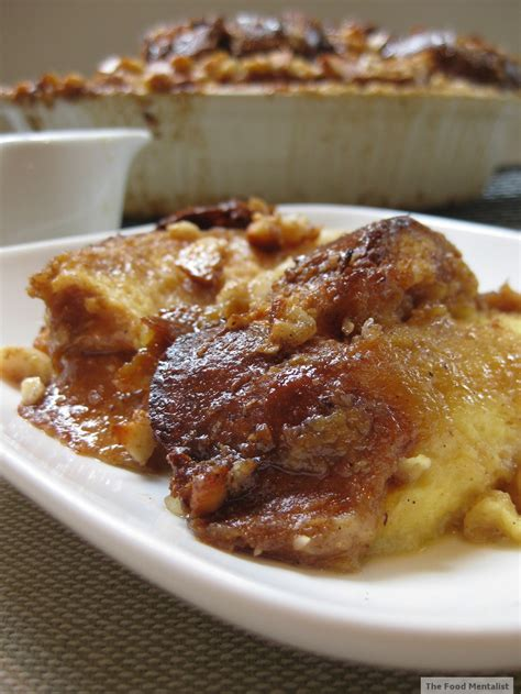Fnd Labels Raline macadamia praline bread butter pudding