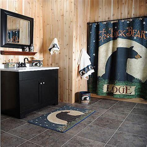 bear bathroom black bear lodge shower curtain bathroom collection 2017