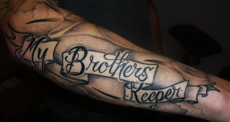 im my brothers keeper tattoos 19 my brothers keeper with powerful meanings