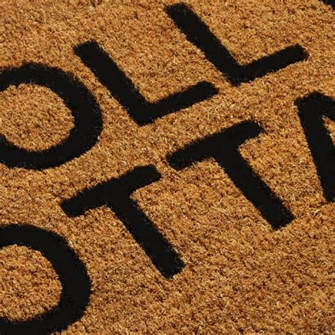 Coir Mats Made To Measure by Made To Measure Traditional Doormat Personalised