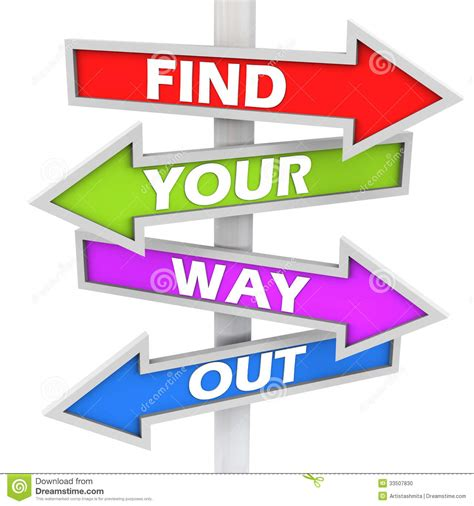 Find Out About For Free Find Your Way Out Stock Photo Image 33507830