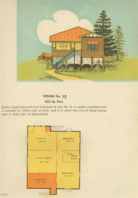 Queensland Home Design Plans Floor Plan And Drawing Of Queenslander House 1939