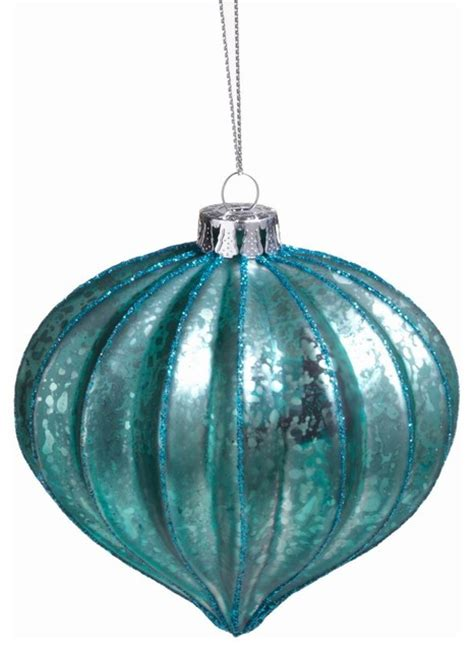 ribbed onion shaped ornaments set of 12 contemporary
