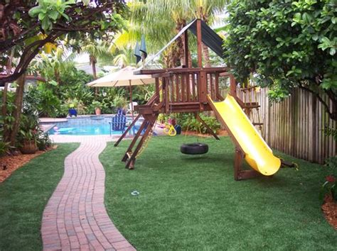 backyard kid pools kids stay clean and safe on our easyturf artificial grass