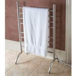 heated towel holder the best freestanding heated towel rack hammacher schlemmer