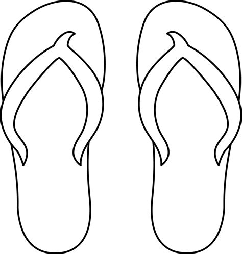 flip flop cut out pattern pictures to pin on pinterest
