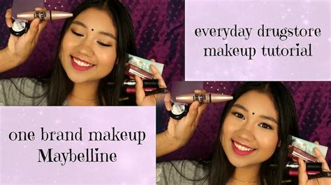 Makeup Maybelline Malaysia everyday malaysian drugstore makeup tutorial one brand
