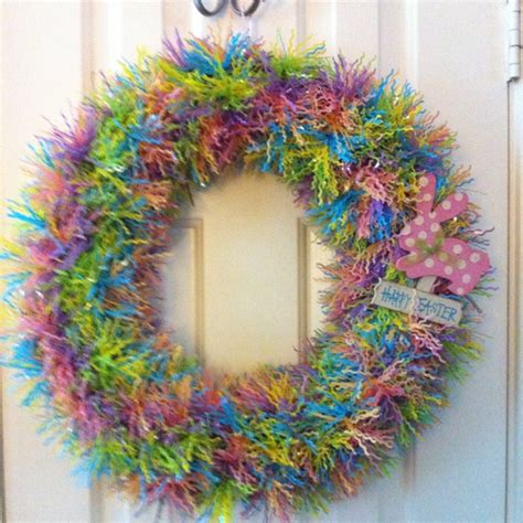 easter wreath ideas easter door wreath craft ideas pinterest