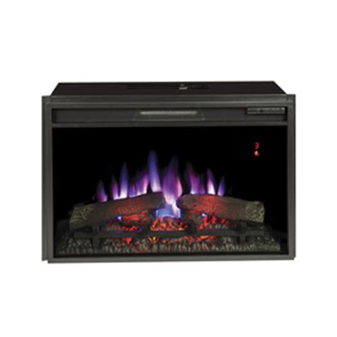 shop 28 3125 in black electric fireplace insert at lowes