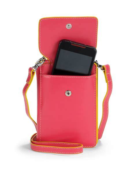 lyst lodis olive phone crossbody bag in pink