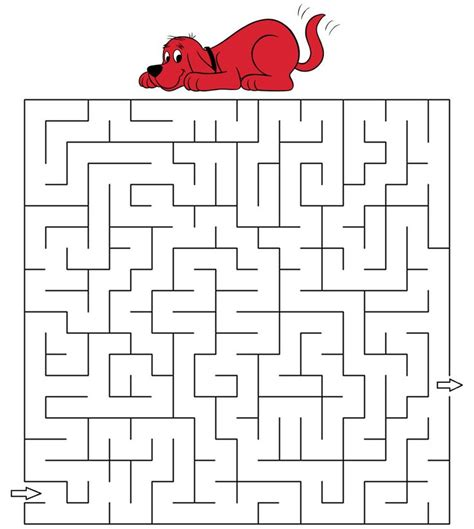 printable dog maze 109 best images about clifford the big red dog printables