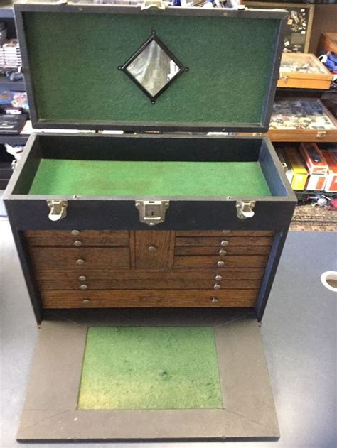 super suitcase with drawers vintage gerstner sons machinist box nice leather oak