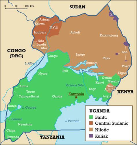 uganda on world map uganda maps
