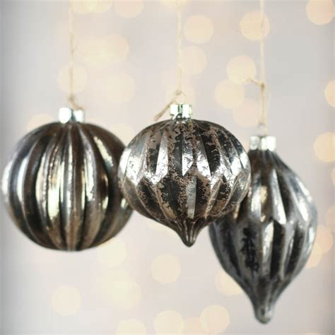 mercury glass bauble ornaments christmas ornaments